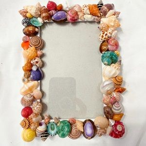 "Sea Shell Picture Frame 4x6"" NWT Stand up"